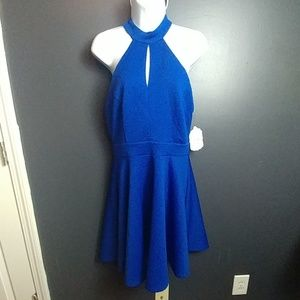 Altar'd State new nwt blue dress with cutouts L